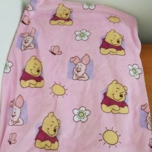 Other - Fleece Pink Winnie the Pooh and Piglet Blanket